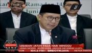 Pemerintah Tetapkan Idul Fitri 1438 H Jatuh pada 25 Juni 2017