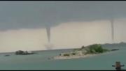 Fenomena Langka, 3 Puting Beliung Mirip Tornado Muncul di Kepulauan Seribu