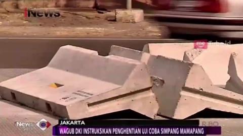 Diprotes, Uji Coba Simpang Mampang Dihentikan
