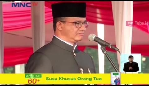 Peringati Ulang Tahun Jakarta ke-491, Pemerintah Gelar Upacara di Monas