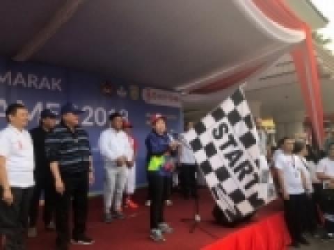 Menko PMK Puan Maharani Ikut Jalan Sehat Asian Games 2018